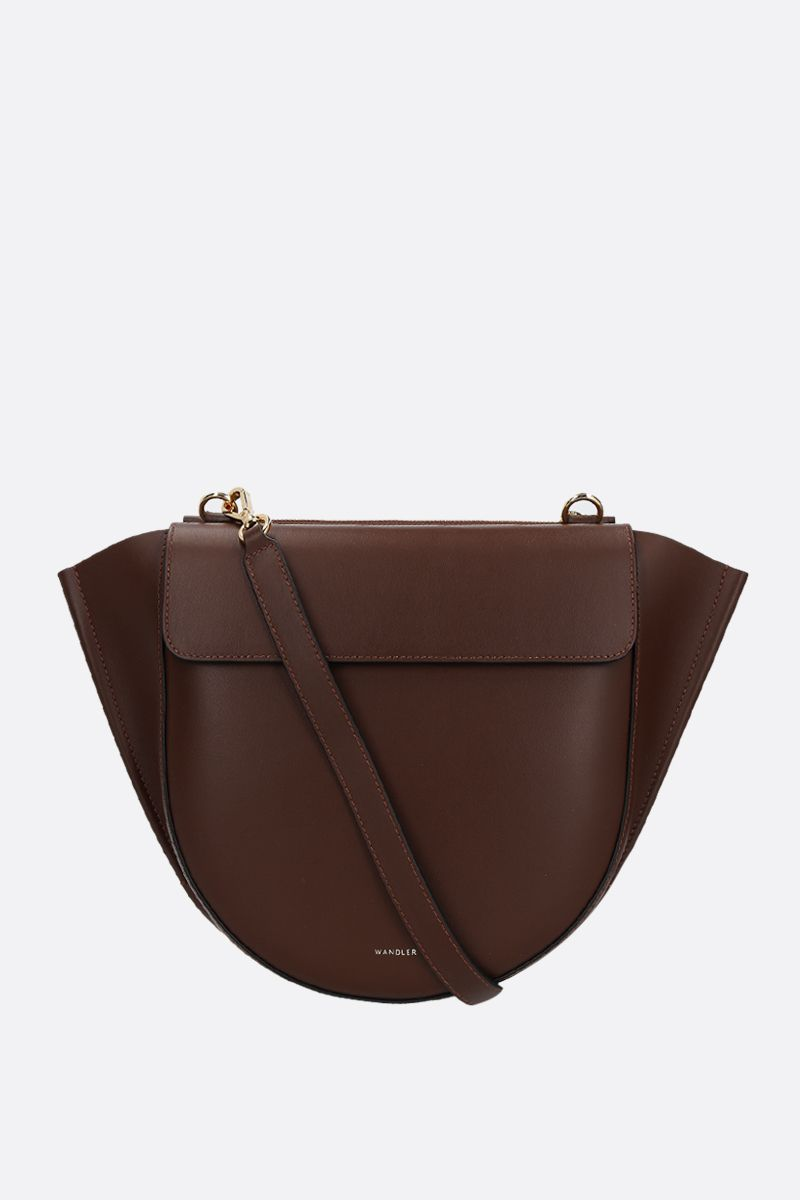 WANDLER: Hortensia mini smooth leather handbag Color Brown_2