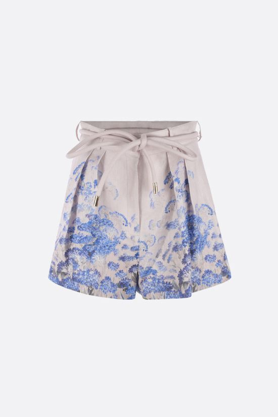 ZIMMERMANN: Luminous Safari linen shorts Color Multicolor_1