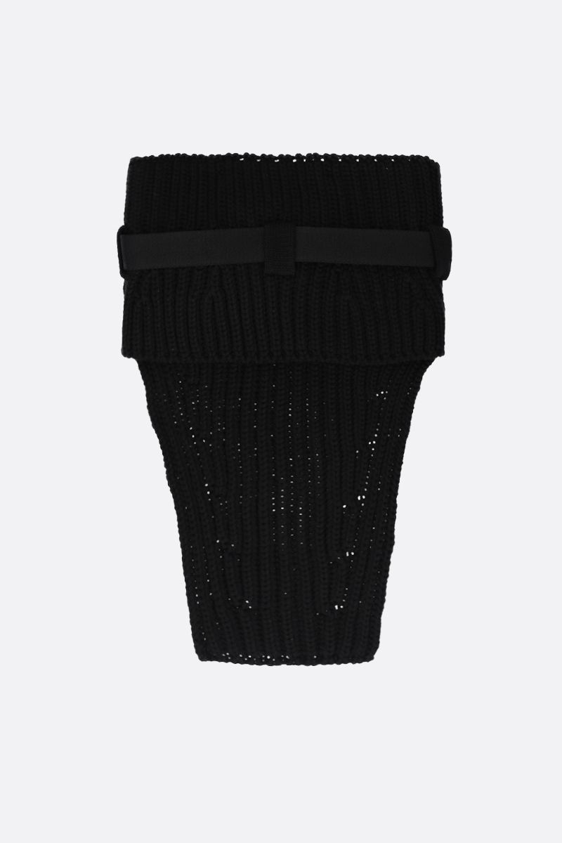 1017 ALYX 9SM: buckle-detailed knit neck warmer Color Black_2