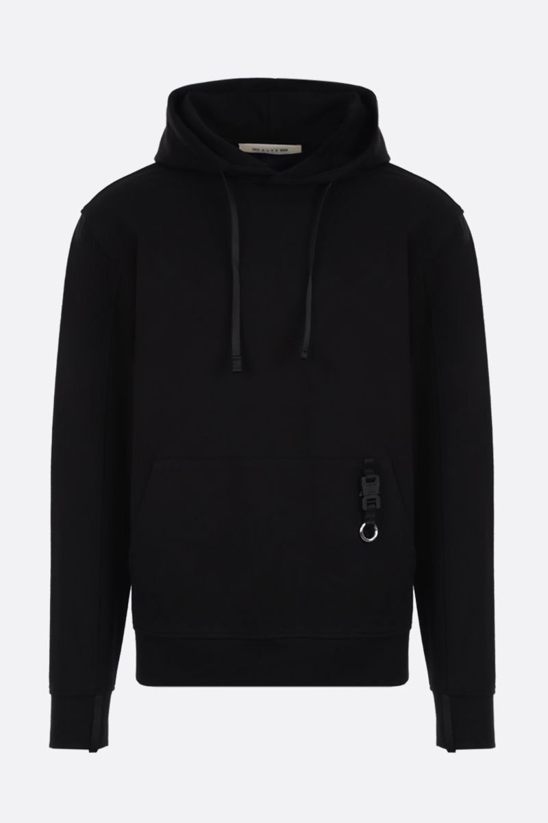 1017 ALYX 9SM: Rollercoaster-detailed stretch jersey hoodie Color Black_1