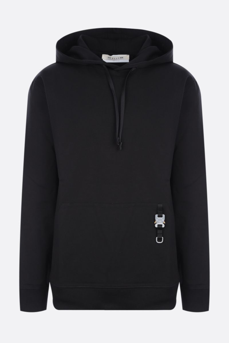 1017 ALYX 9SM: buckle-detailed jersey hoodie Color Black_1