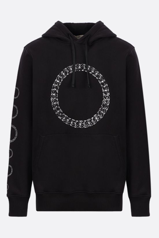 1017 ALYX 9SM: Cube Chain print cotton hoodie Color Black_1