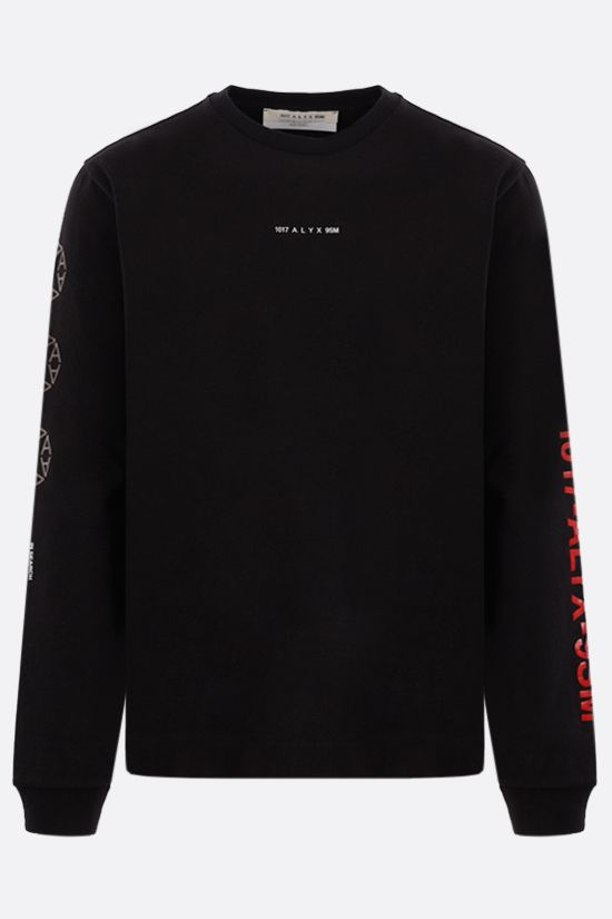 1017 ALYX 9SM: Sphere Logo cotton sweatshirt Color Black_1