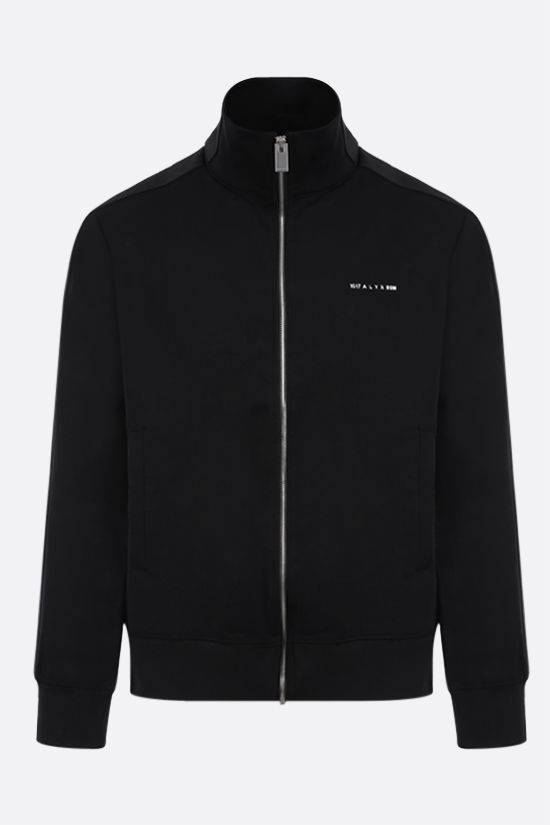 1017 ALYX 9SM: logo-detailed technical jersey full-zip track jacket Color Black_1
