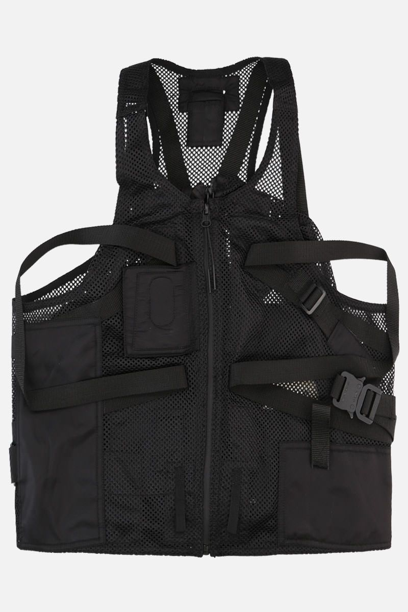 1017 ALYX 9SM: mesh and nylon multifunctional waistcoat Color Black_1