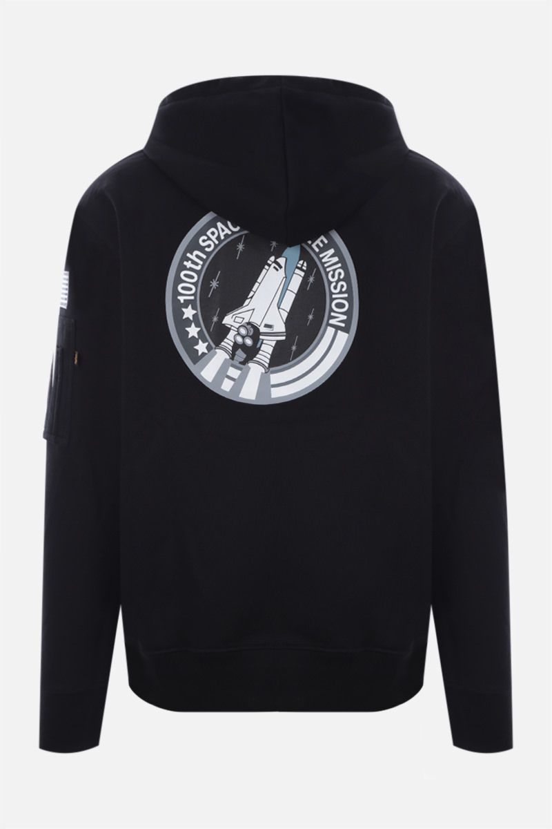 ALPHA INDUSTRIES: Space Shuttle jersey hoodie Color Black_2