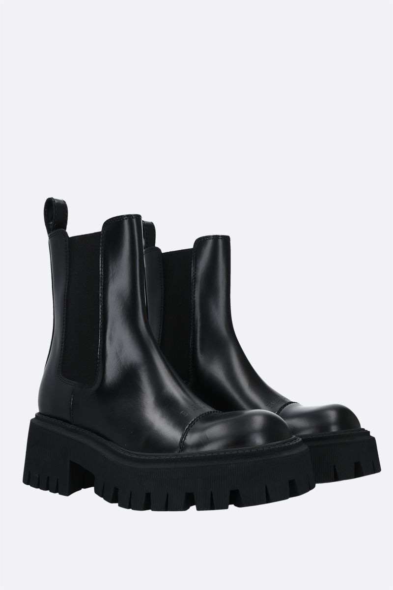 BALENCIAGA: Tractor smooth leather chelsea boots Color Black_2