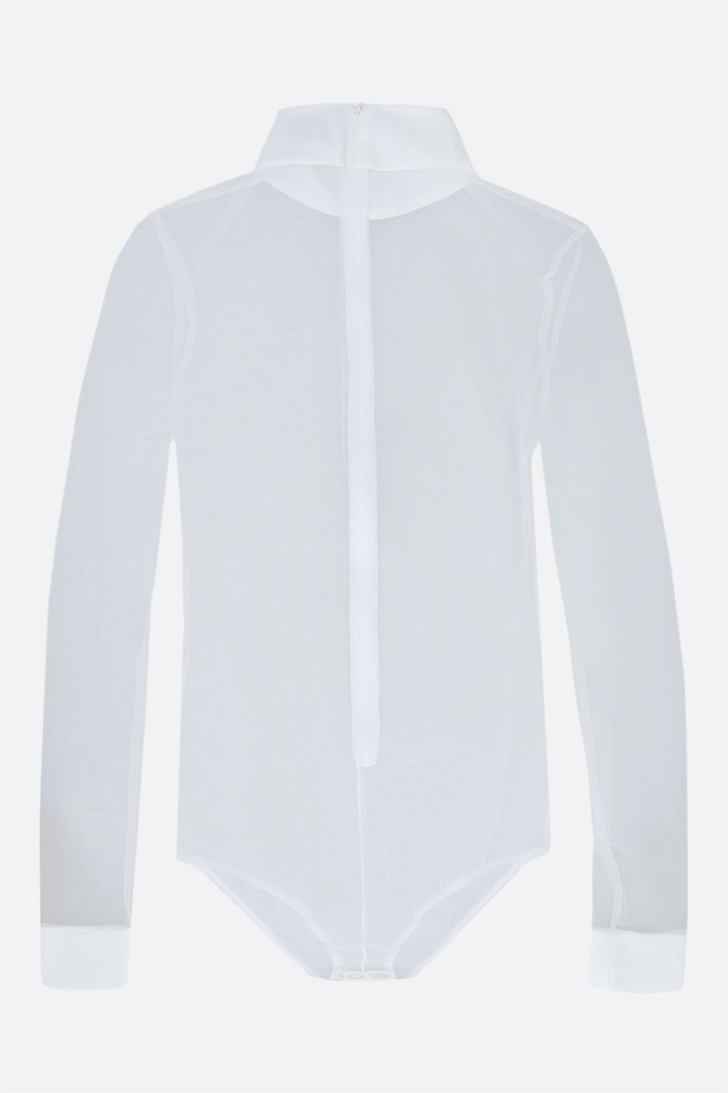 BURBERRY: tulle bodysuit Color White_2