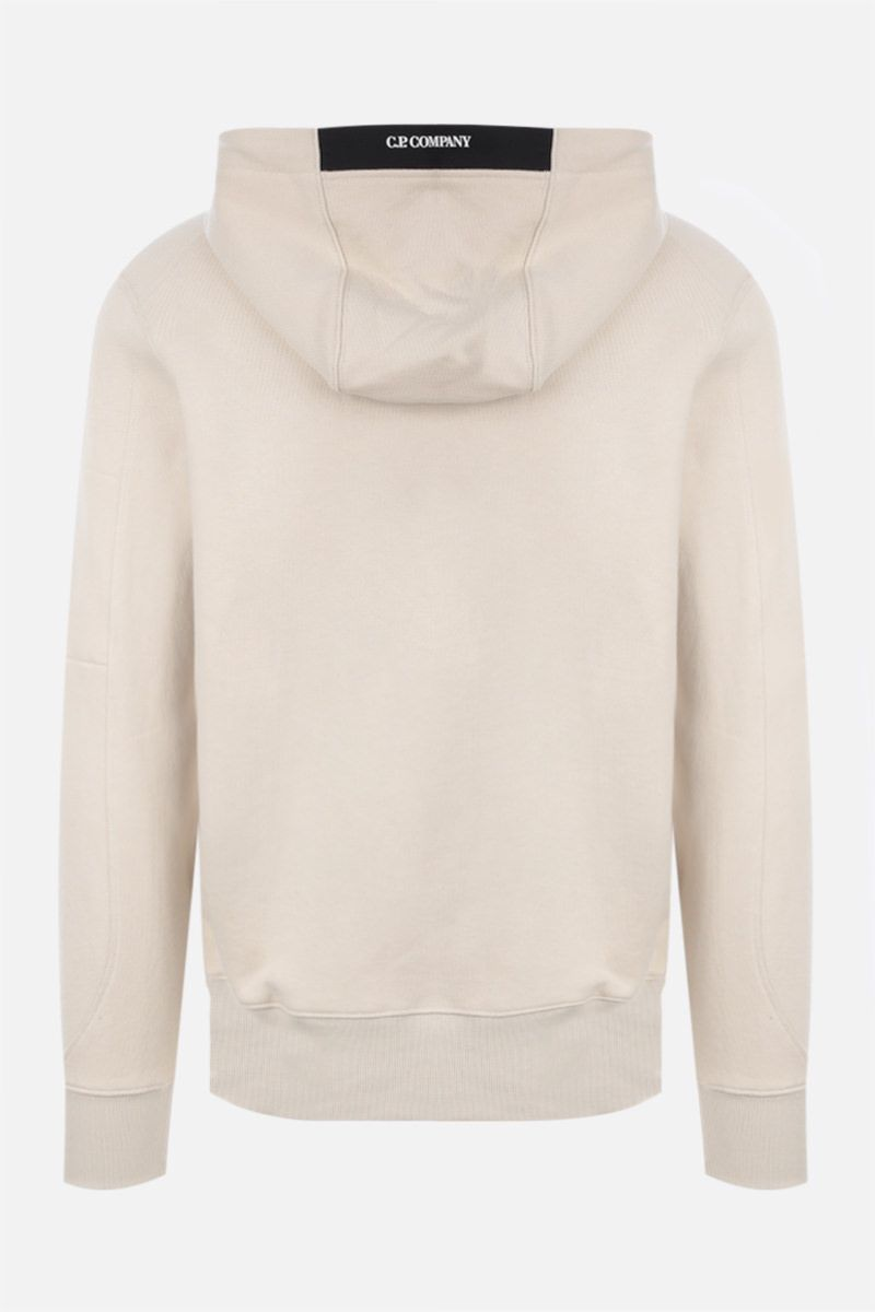 CP COMPANY: logo-detailed cotton hoodie_2