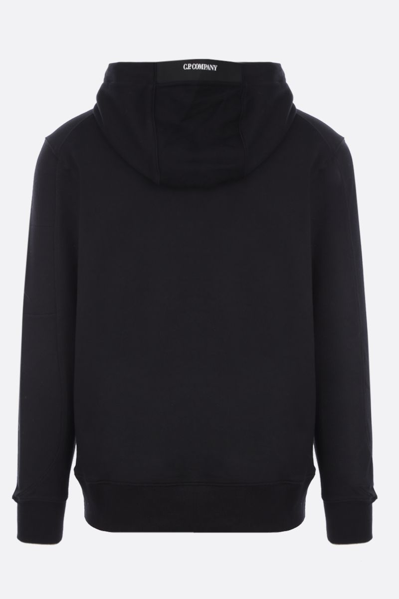 CP COMPANY: logo-detailed cotton hoodie Color Black_2