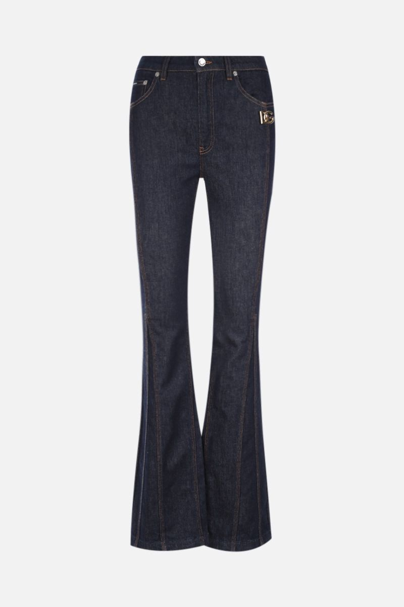 DOLCE & GABBANA: stretch cotton flared jeans Color Blue_1