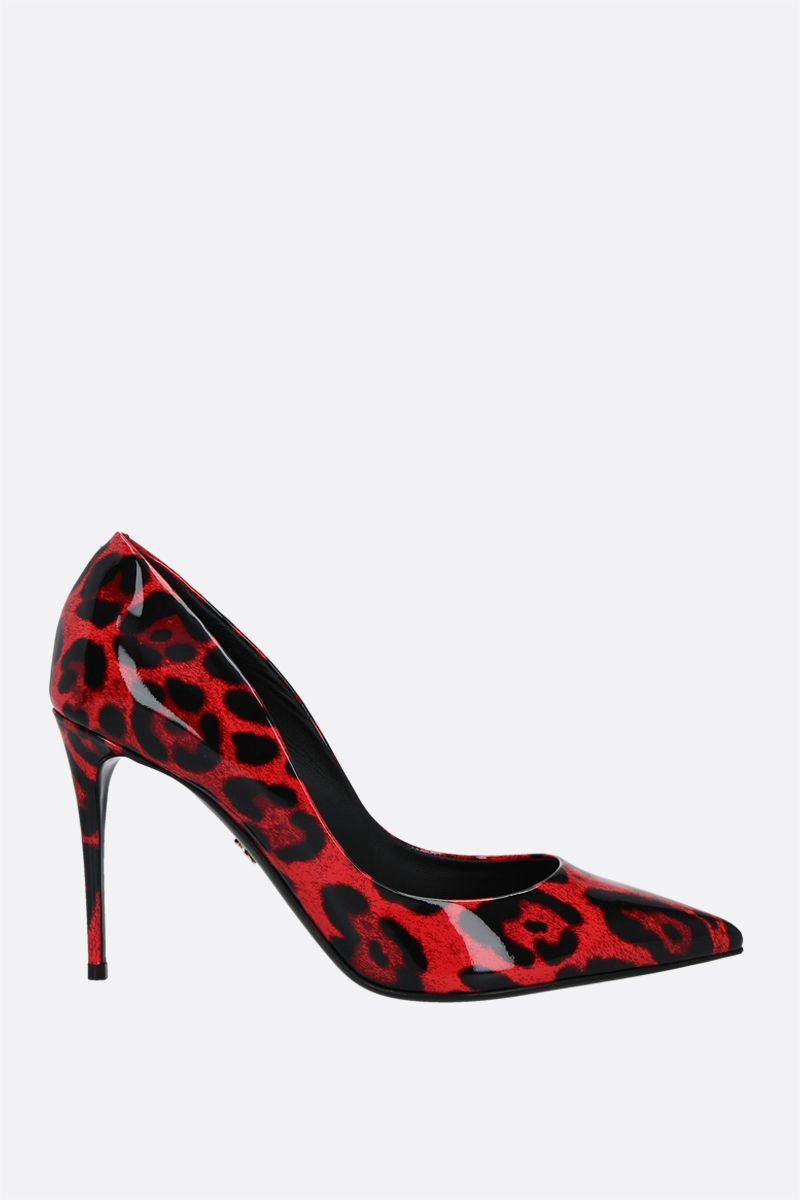 DOLCE & GABBANA: leopard printed patent leather pumps Color Animalier_1