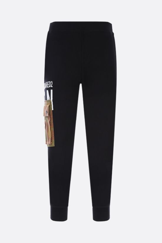 DSQUARED2: cargo pocket cotton joggers Color Black_2