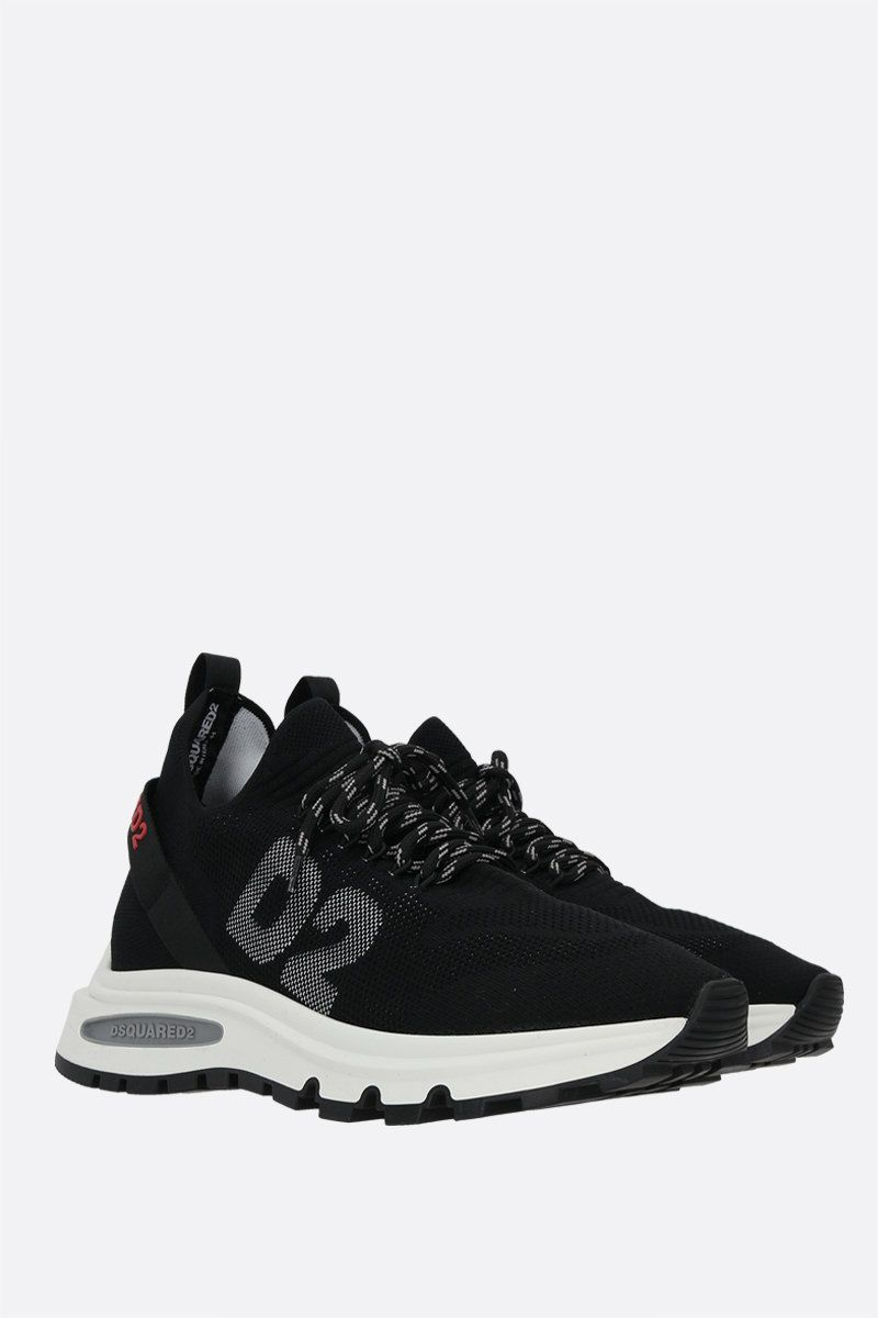DSQUARED2: Speedster technical knit sneakers Color Black_2
