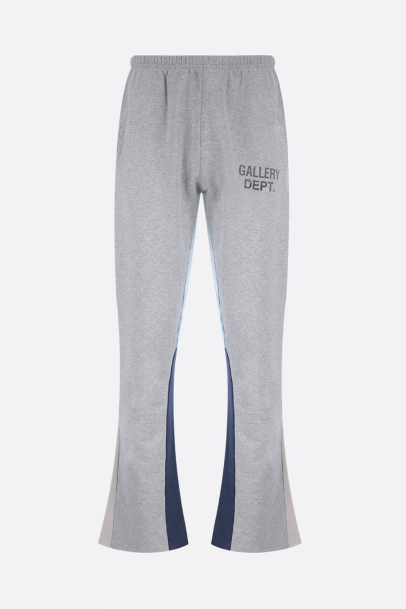 GALLERY DEPT: logo print flared cotton joggers Color Grey_1