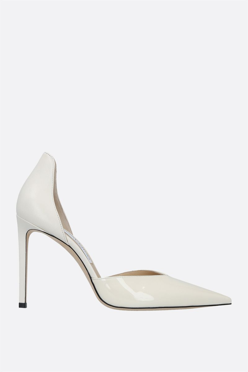 JIMMY CHOO: Beanne patent leather and nappa pumps Color White_1