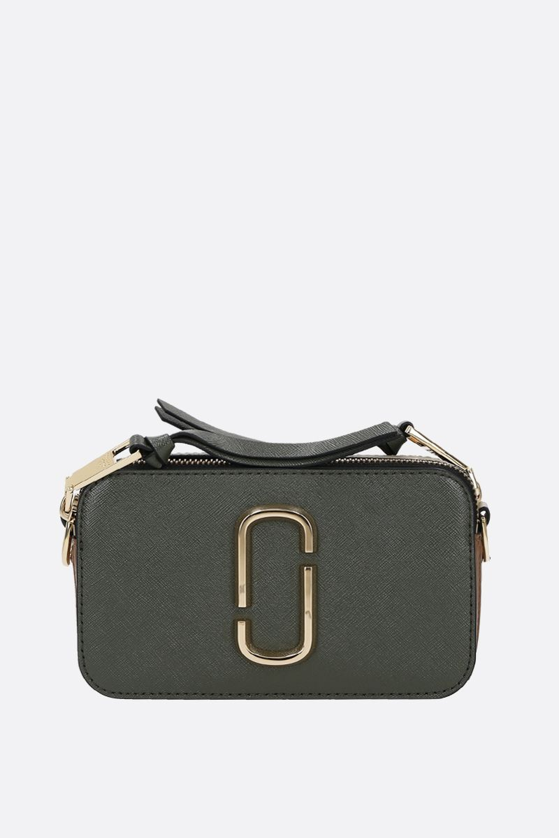 MARC JACOBS: Snapshot small crossgrain leather camera bag Color Green_1