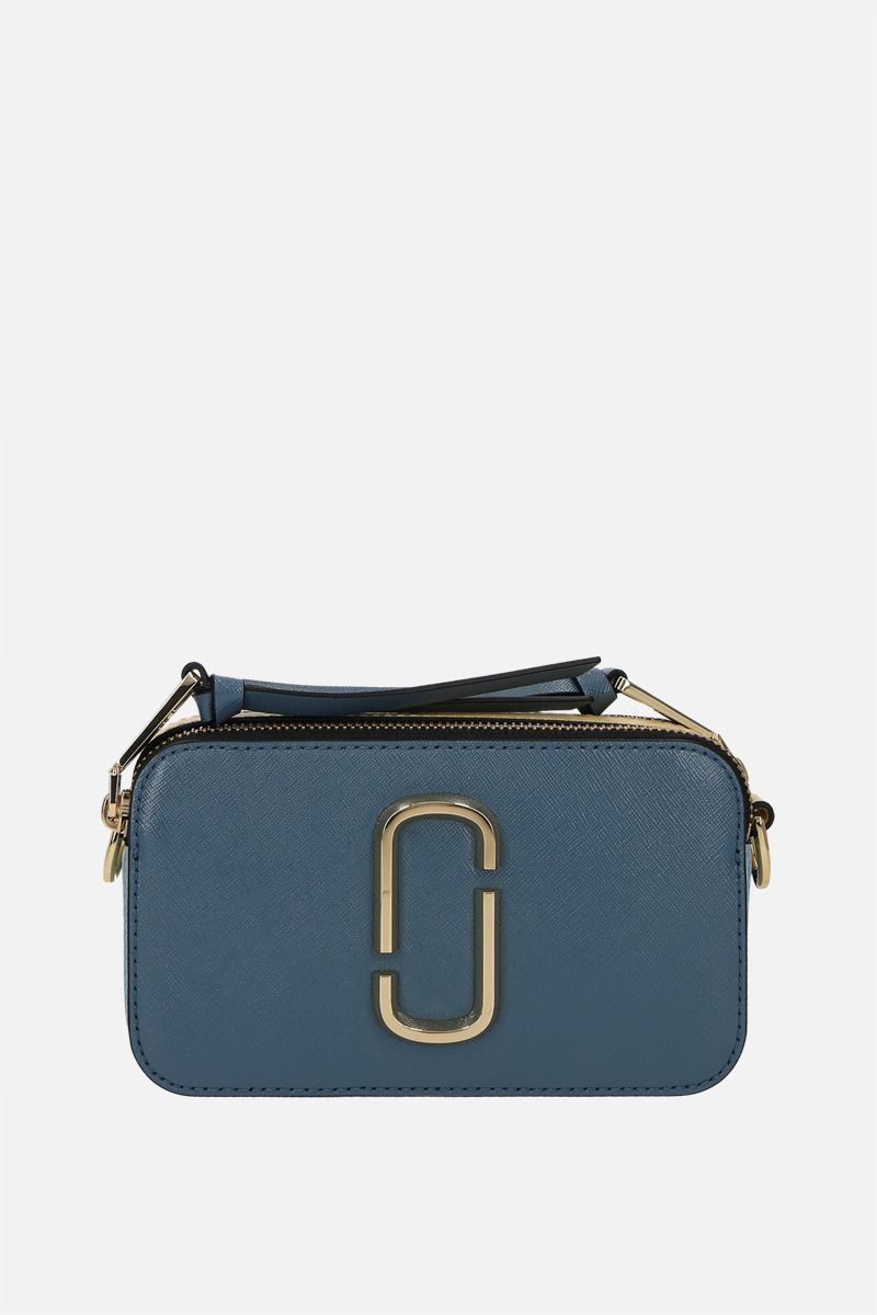 MARC JACOBS: Snapshot small crossgrain leather camera bag Color Blue_1