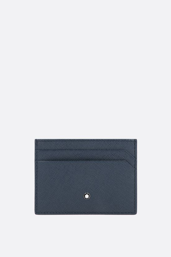 MONTBLANC: Montblanc Sartorial textured leather card case Color Blue_1