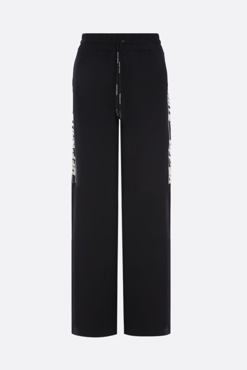 OFF WHITE: Athletic Logo jersey joggers Color Black_1
