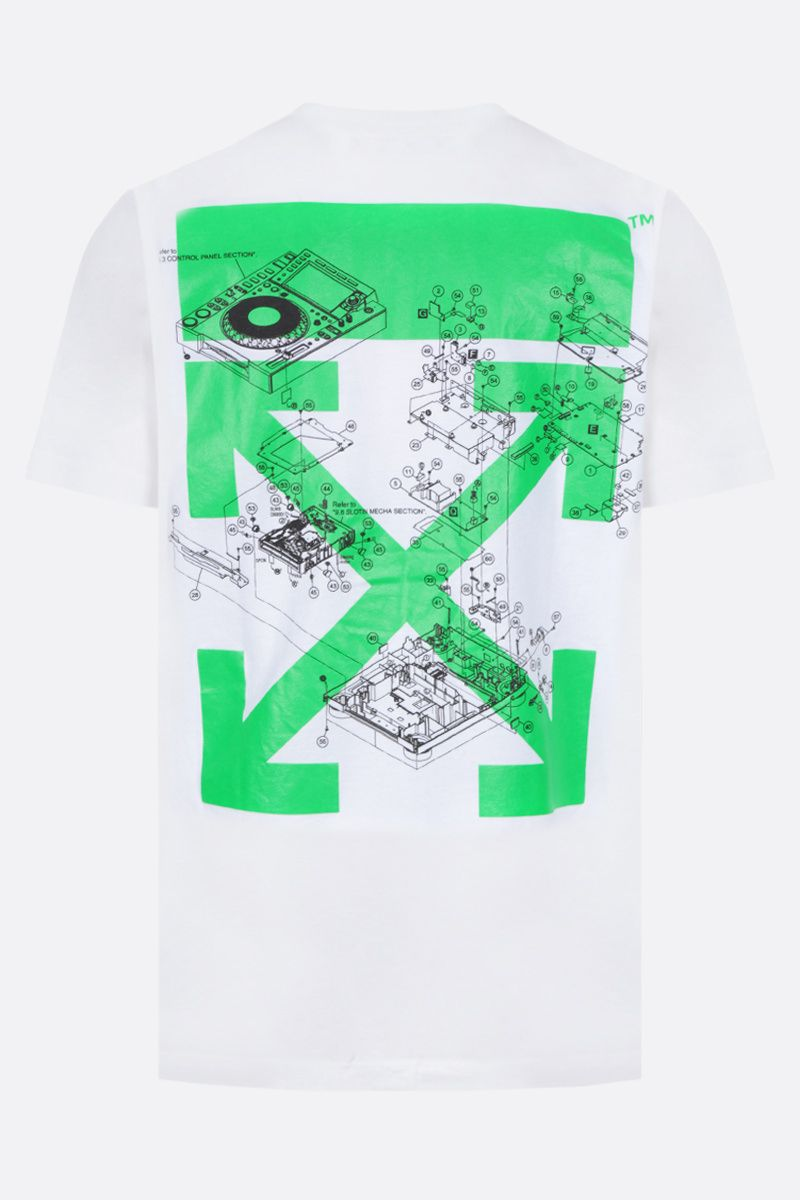 OFF WHITE: t-shirt Sound Engineering in cotone Colore White_2