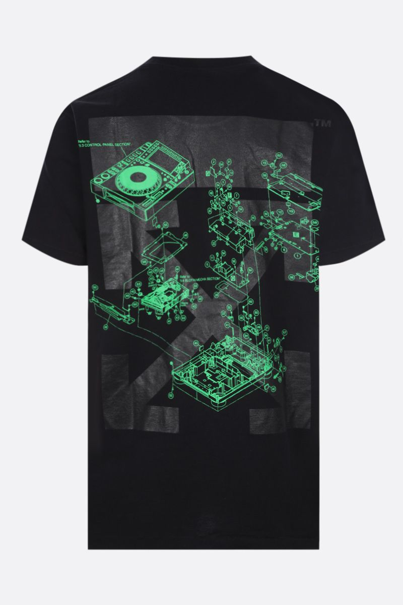 OFF WHITE: t-shirt Sound Engineering in cotone Colore Black_2
