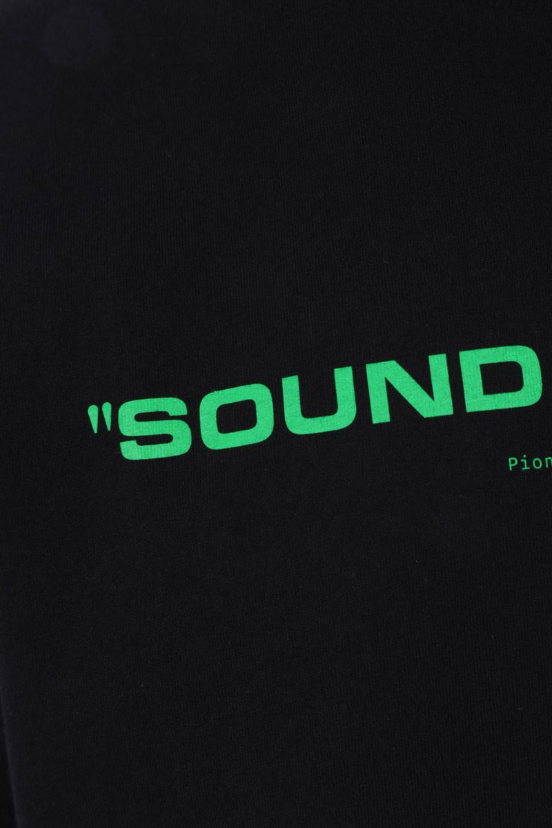 OFF WHITE: t-shirt Sound Engineering in cotone Colore Black_3