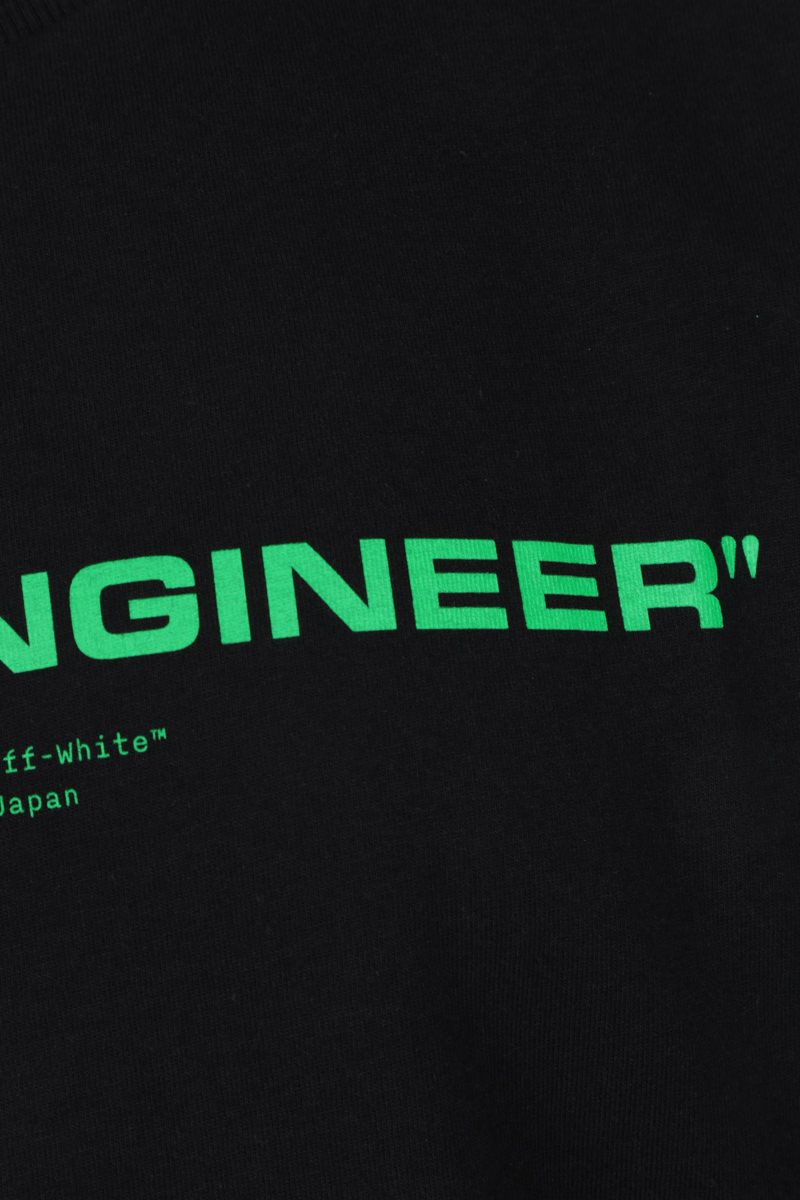 OFF WHITE: t-shirt Sound Engineering in cotone Colore Black_4