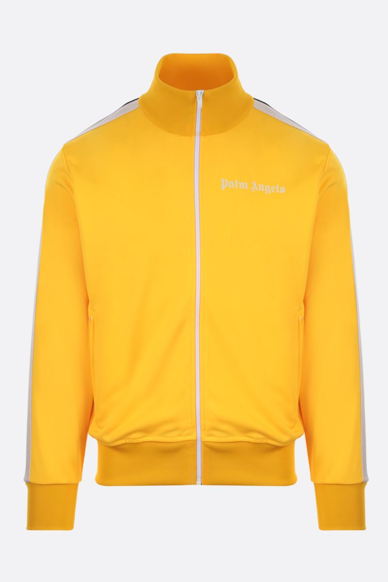 PALM ANGELS: logo print technical jersey track jacket Color Yellow_1