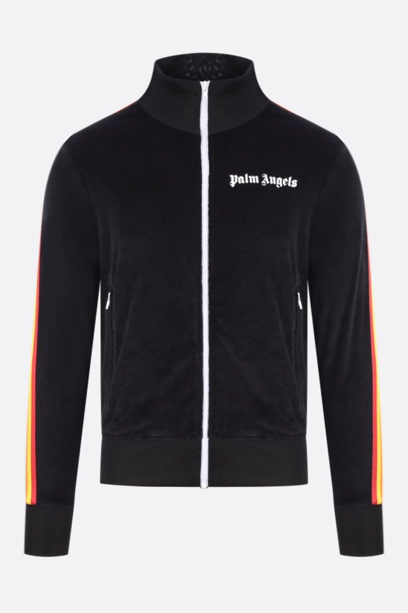 PALM ANGELS: Rainbow chenille track jacket Color Black_1