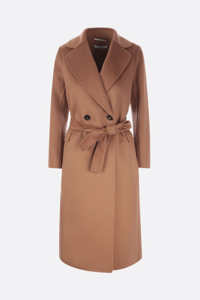 'S MAX MARA: Perry double-breasted cashmere wool blend coat Color Brown_1