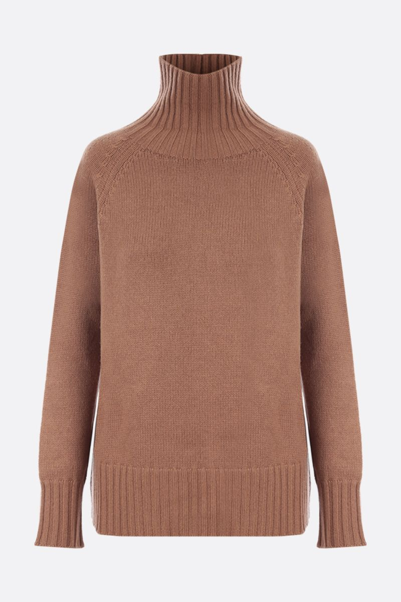 'S MAX MARA: Mantova oversize cashmere wool blend pullover Color Brown_1