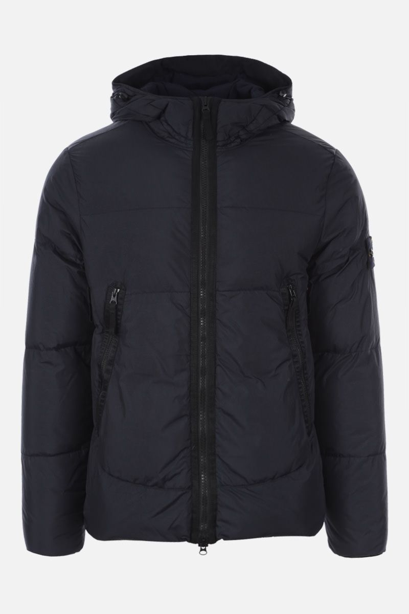 STONE ISLAND: Crinkle Reps Nylon down jacket Color Blue_1