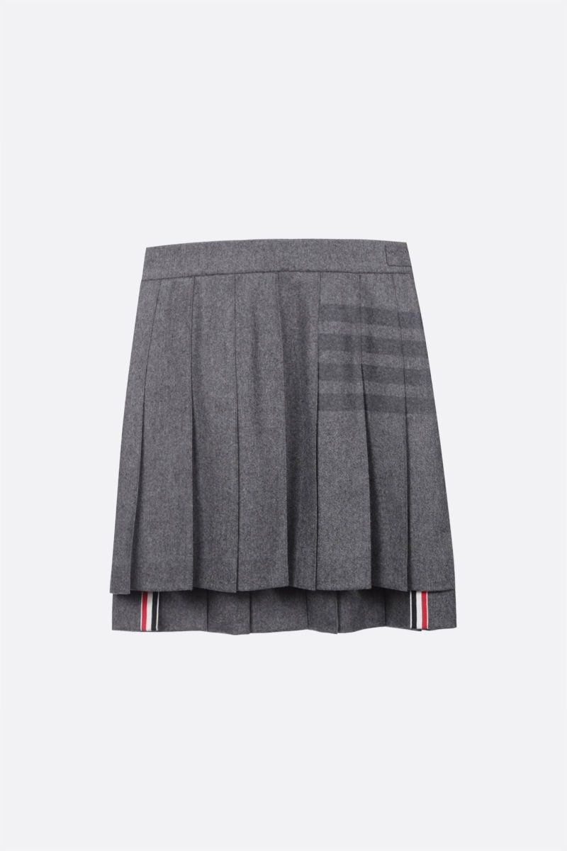 THOM BROWNE: cashmere wool blend pleated skirt Color Grey_1