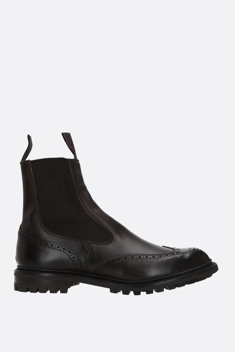 TRICKER'S: Henry smooth leather chelsea boots Color Brown_1