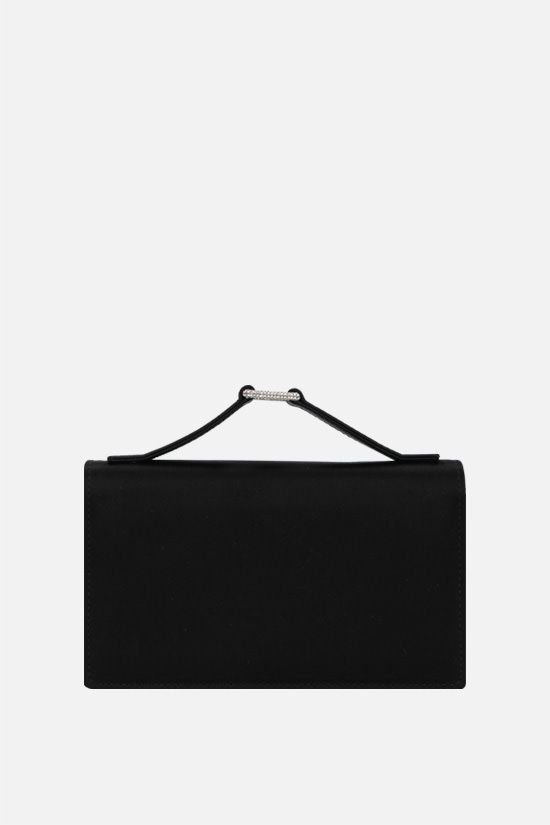 VALENTINO: satin clutch with Swarovski-covered detailing Color Black_1
