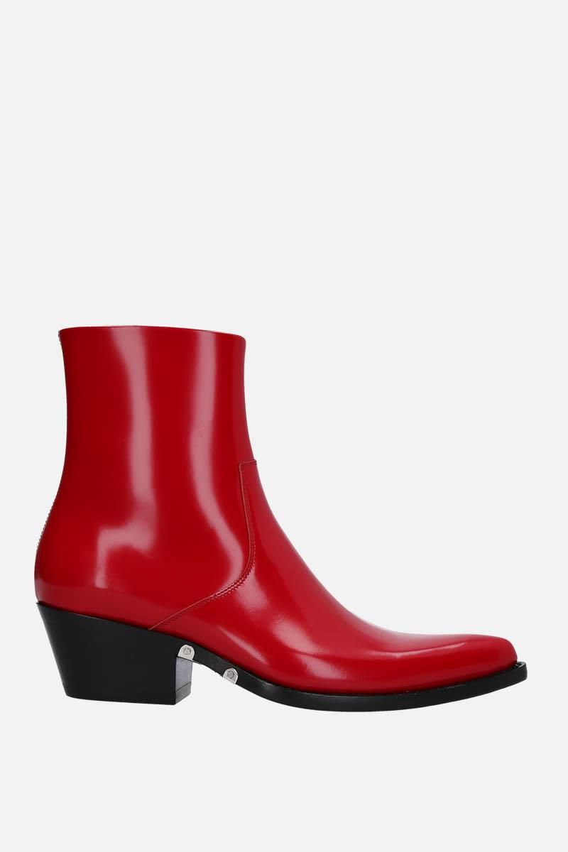 CALVIN KLEIN 205W39NYC: Tiesa western boots in brushed calf Color Red_1
