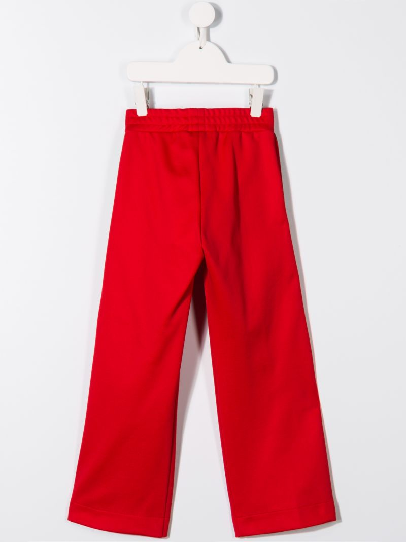 FENDI KIDS: jersey joggers with FF tapes Color Red_2