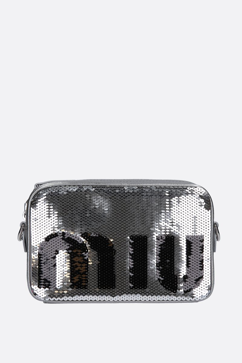 MIU MIU: sequinned crossbody bag Color Black_1