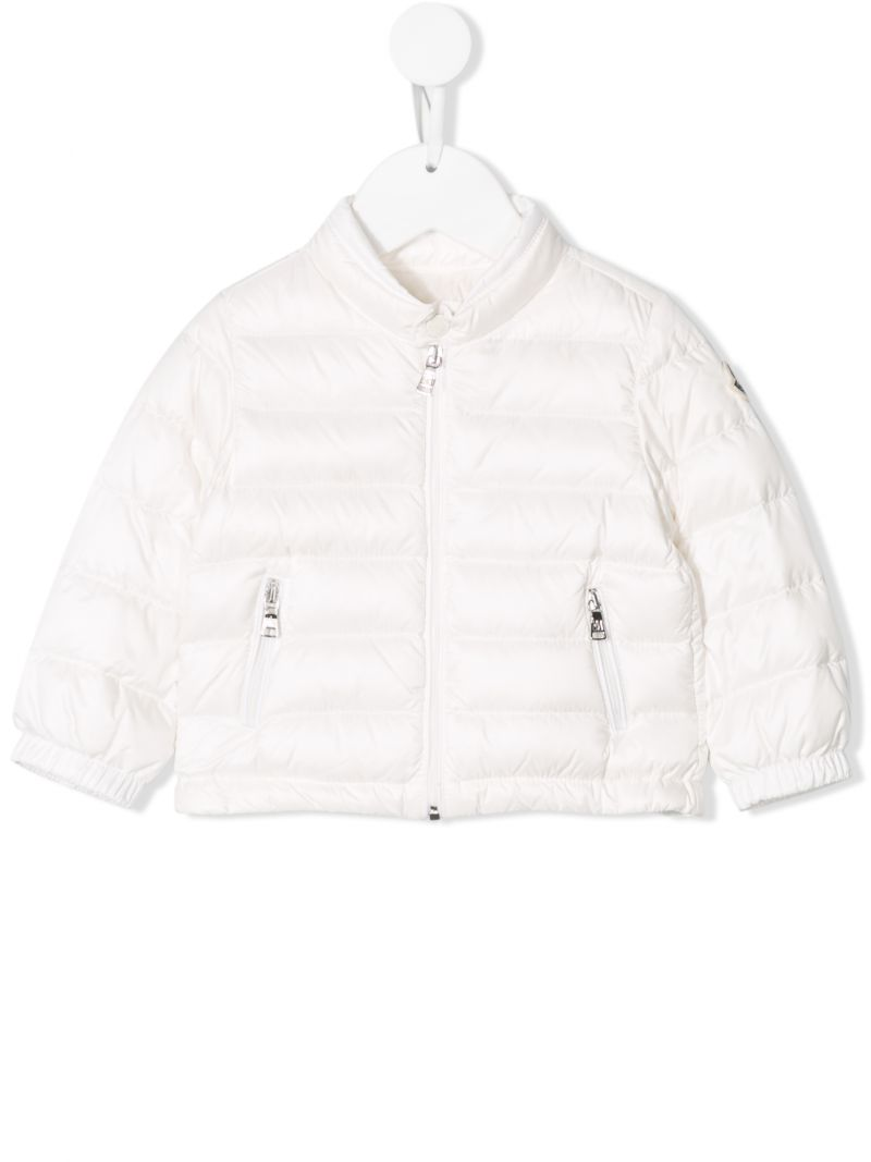 MONCLER KIDS: Acorus technical fabric down jacket Color White_1