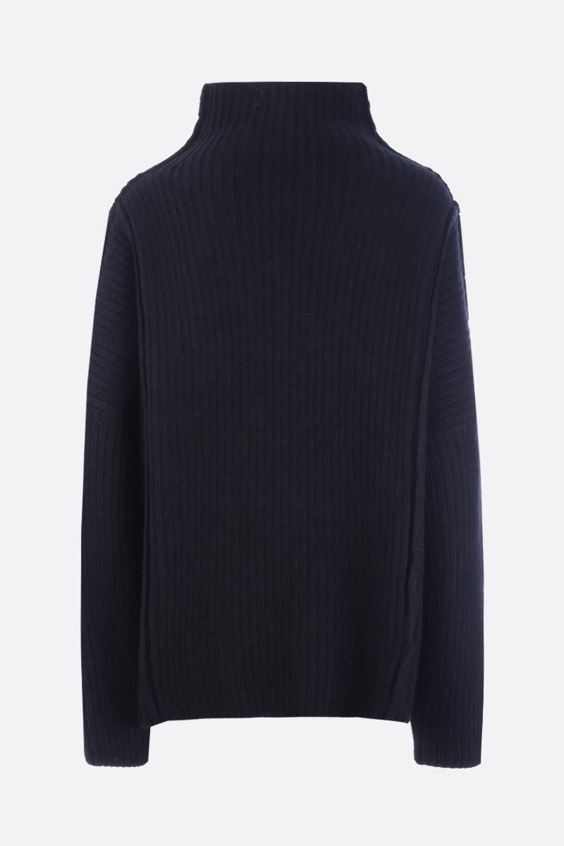 PAUL POIRET: Amadeo oversize wool and alpaca pullover Color Black_2