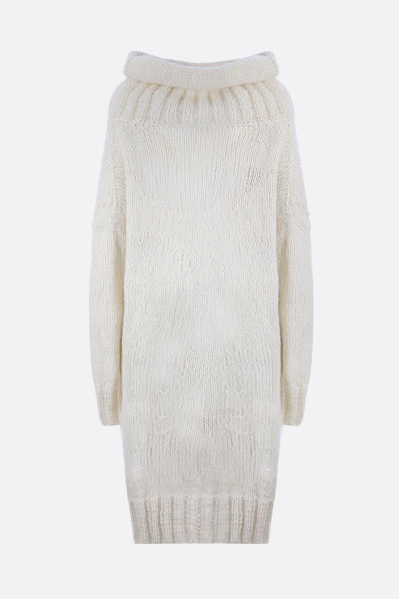 PAUL POIRET: oversize mohair and alpaca pullover Color White_2