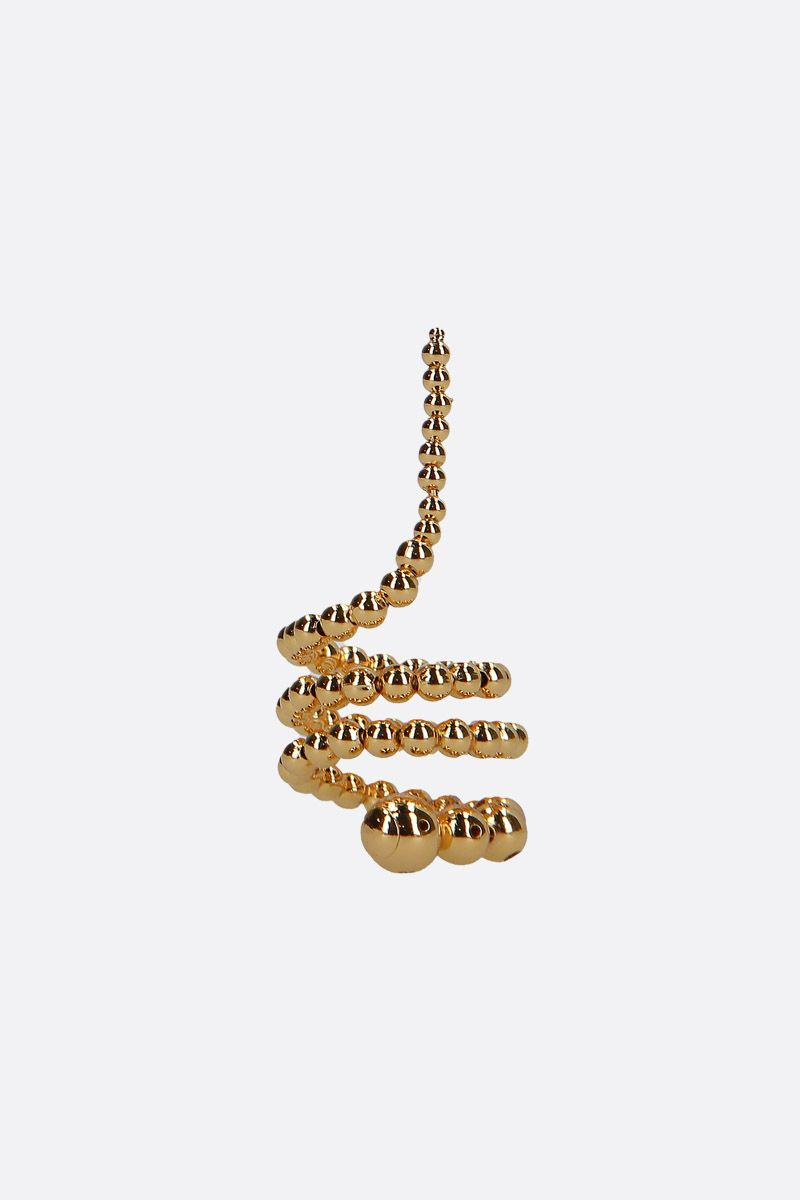 PAULA MENDOZA: Triple Adriane gold plated brass rings Color Gold_1