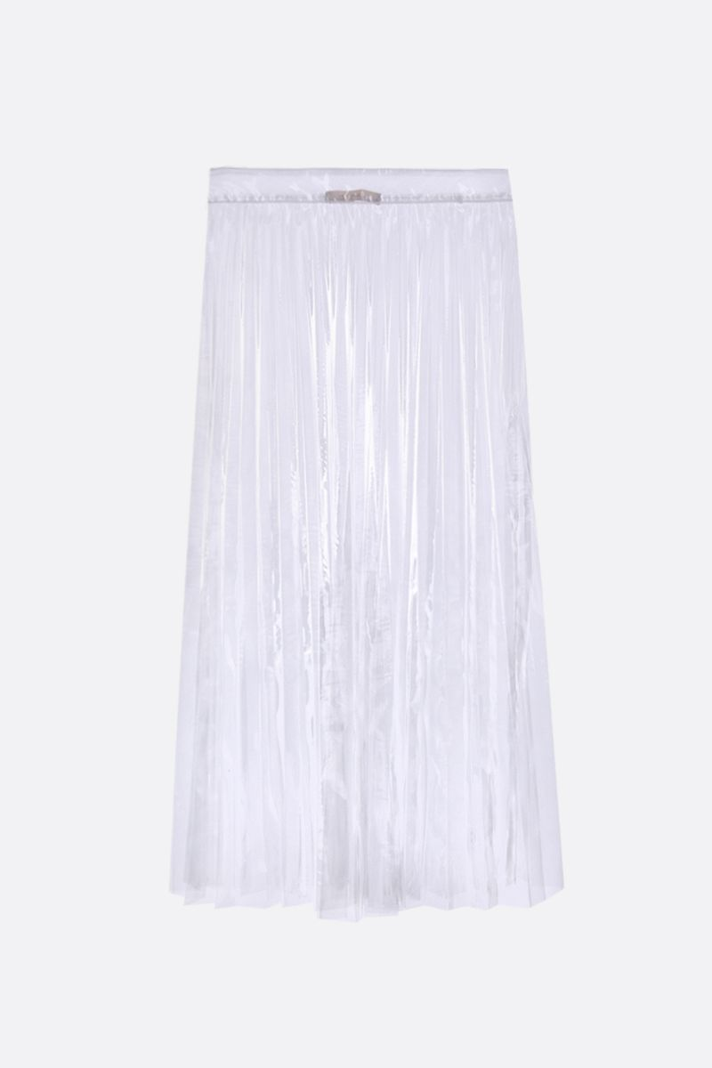 SSHEENA: Glass pleated skirt in tranparent PVC Color Neutral_1