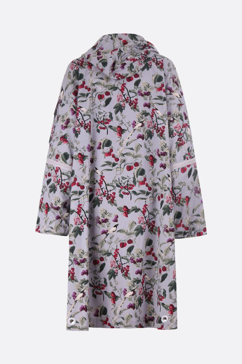 UNDERCOVER: red fruits print cotton blend parka Color Grey_2
