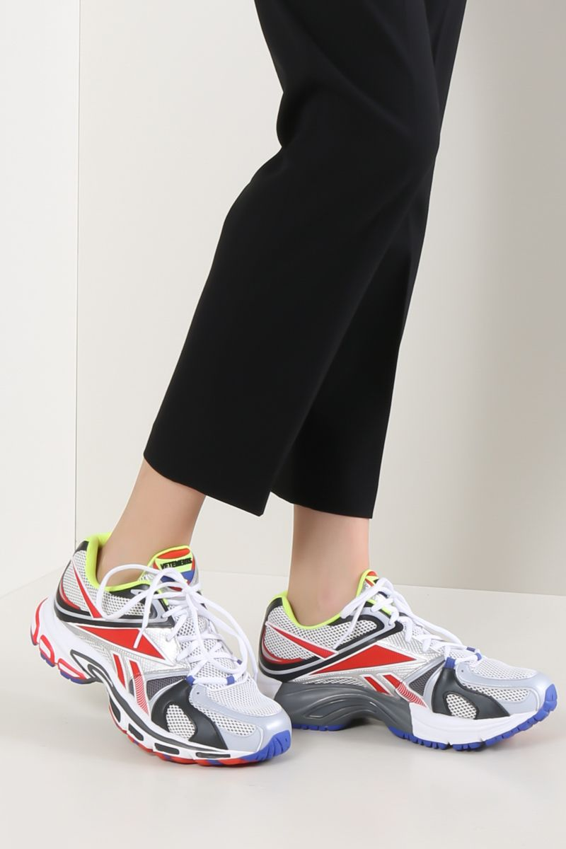 VETEMENTS: Spike Runner 200 sneakers in mesh and faux leather Color Multicolor_2