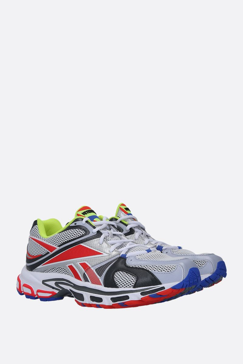 VETEMENTS: Spike Runner 200 sneakers in mesh and faux leather Color Multicolor_3