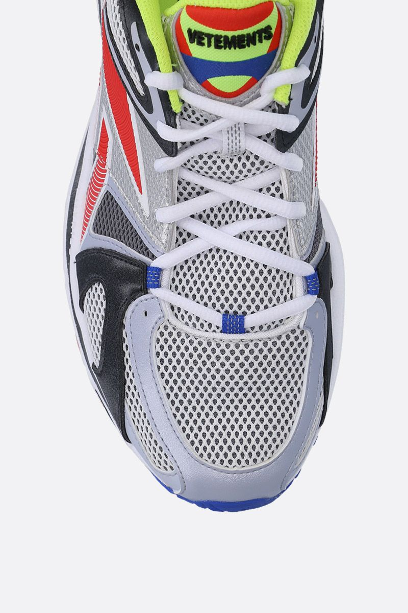 VETEMENTS: Spike Runner 200 sneakers in mesh and faux leather Color Multicolor_5