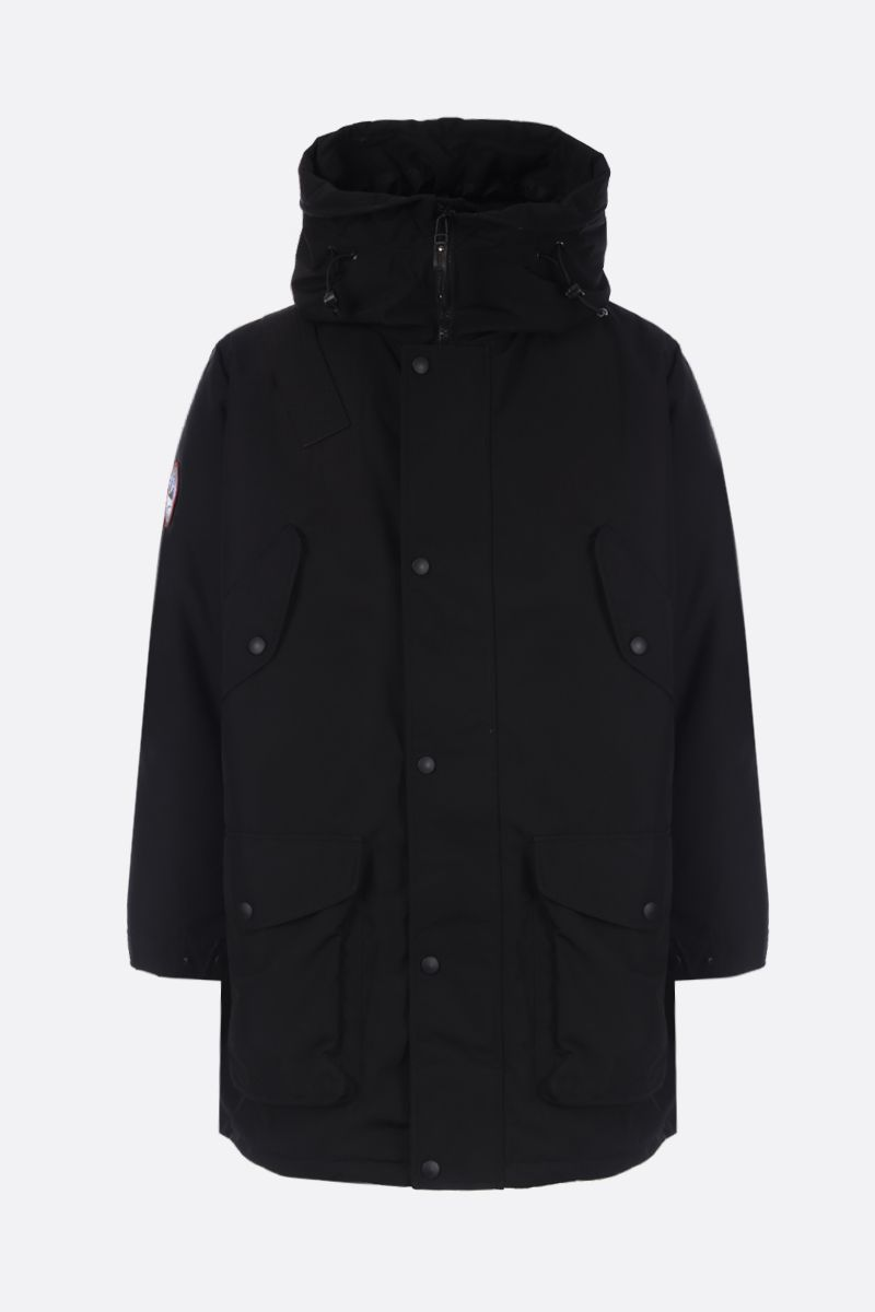 ARCTIC EXPLORER: Beluga down parka in technical fabric Color Black_1