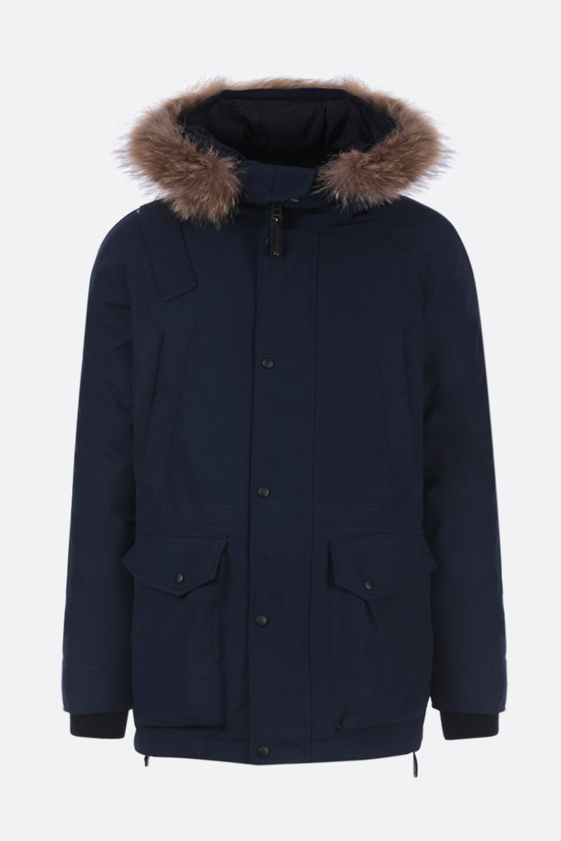 ARCTIC EXPLORER: Chill down parka in technical fabric Color Blue_1